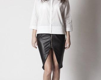 Etoile genuine leather skirt