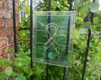 Stained Glass Ribbon For Cancer