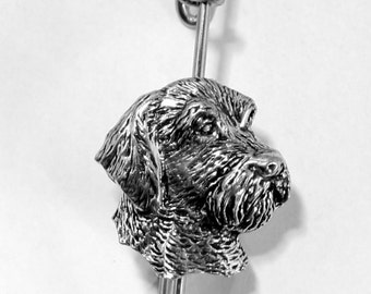Wire Haired Terrier Dog Kilt Pin, Scarf Brooch, British Made, Gift Boxed (ab)