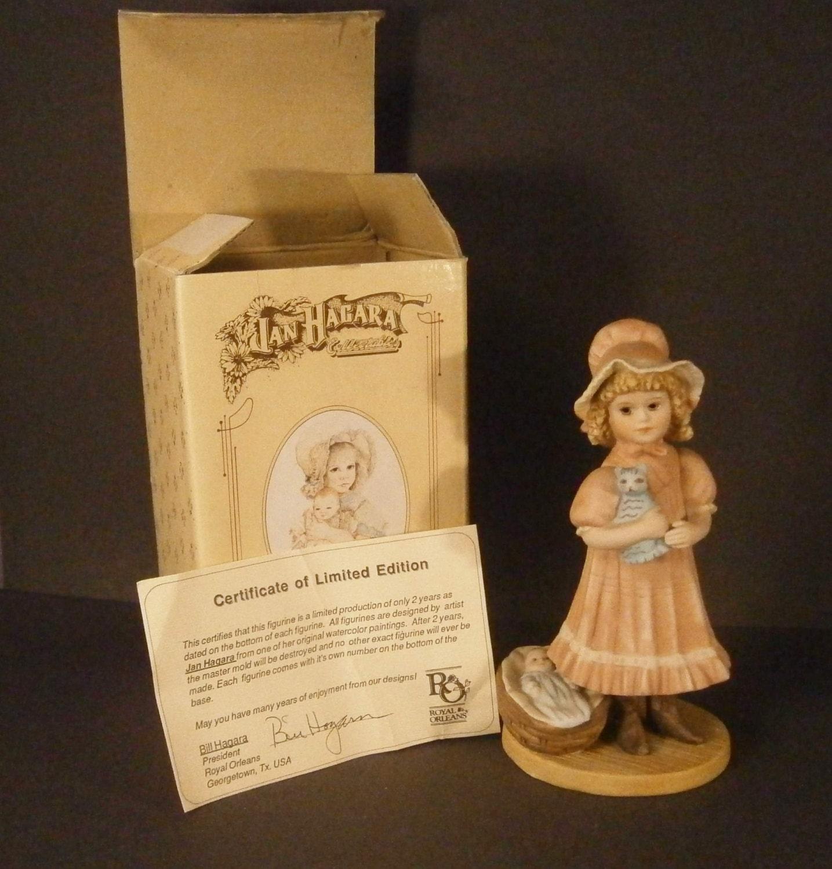 Jan Hagara Figurines: Jan Hagara Figurine Laurel 417 Vintage 1987 1988 Original