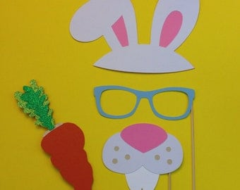 Easter Photo Booth Props - 4 Piece Photo Booth Prop Set- Photo Booth Props