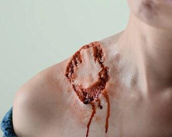 Large juicy zombie bite