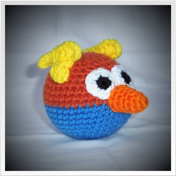 PDF Crochet Pattern Angry Birds Space Blue Bird