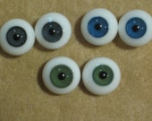 16mm, 14mm, 12mm Green Glass Eyes for Pam at Nubb