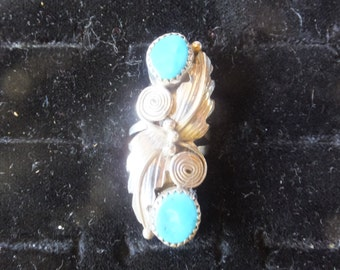 Turquoise and Sterling size 5 only