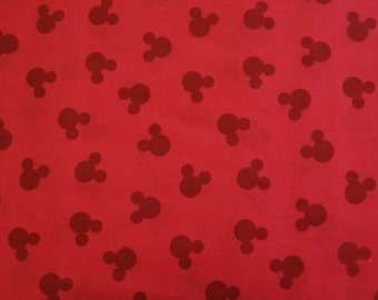 "1/2 yard of 100% cotton ""Mickey Mouse"" Fabric"