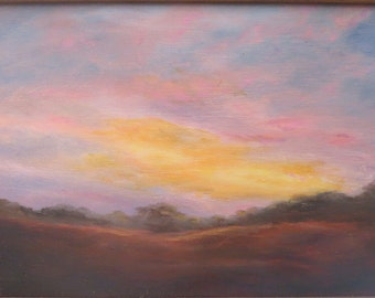 Maine Sunset Original Oil Painting