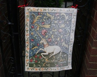 Vintage Machine Woven Tapestry - Faded On One Side - / MEMsArtShop.