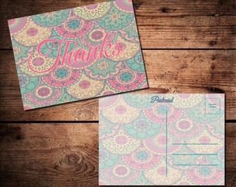 Thank You Postcard (printable)
