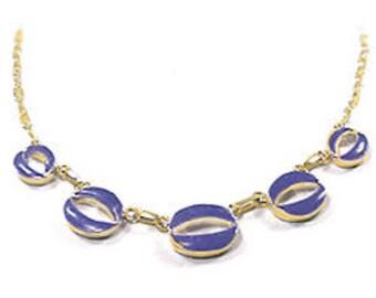 Lapis Lazuli and 18K Gold Semicollar