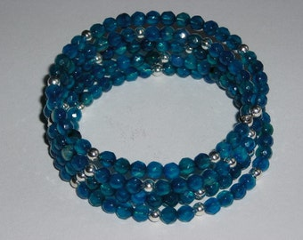 Beaded Serpentine Bracelet Cuff