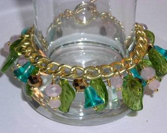 Flower Garden Dangle Bracelet