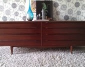 LONG Vintage Mid century modern dresser, credenza, buffet, media unit