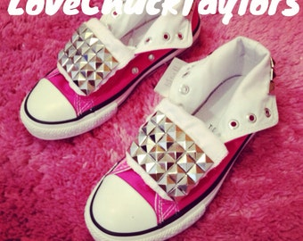 Studded Converse Shoes Hot Pink
