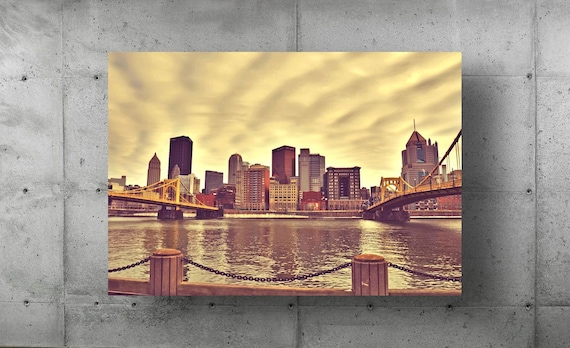 Andy Warhol Bridge & Roberto Clemente Bridges Landscape Photography Pittsburgh Photo Photograph Picture Fine Art