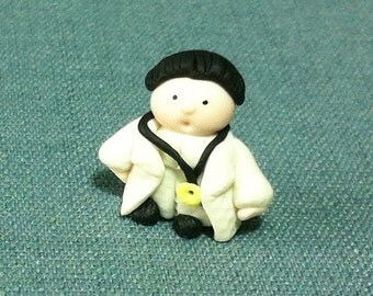 Miniature Funny Hospital Doctor Clay Polymer Cute Little Dollhouse Hand Made Fimo Craft Decoration Figure Decor Supplies Display Jewelry