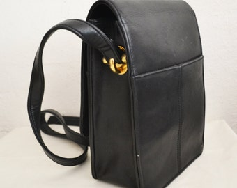 Black purse,bag, faux leather, Shoulder Bag