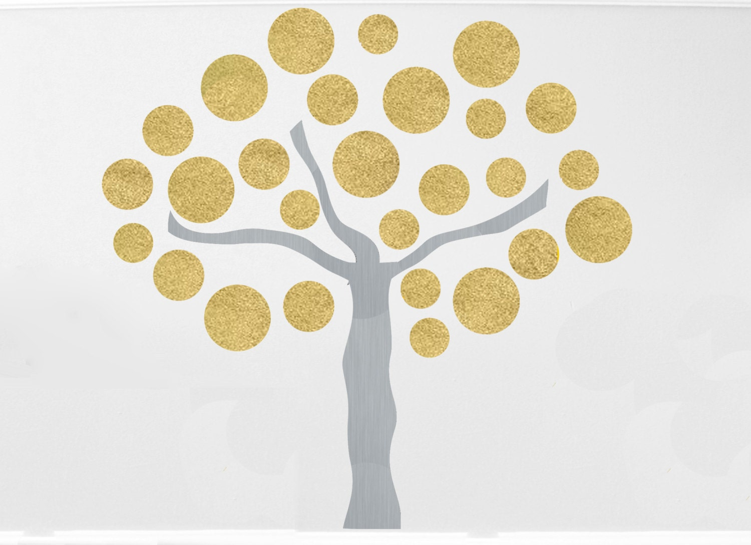 Gold Tree Wall Decal - Elitflat