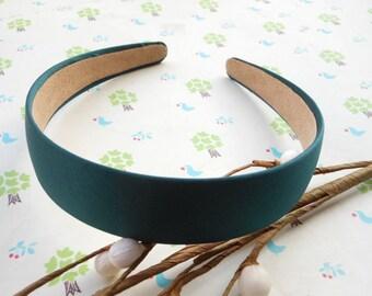 SALE--10 pcs 30mm dark green Satin Headbands