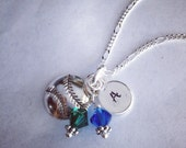 PERFECT TEAM GIFTS- Sporty Girl Softball Hand Stamped Initial or Number Necklace