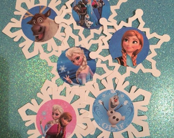 Frozen inspired 3.5 inch die cuts with picture.