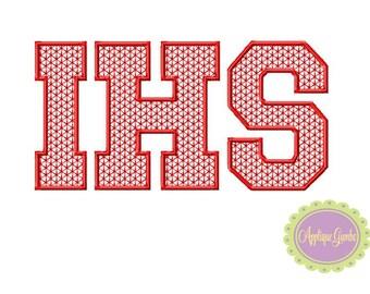 IHS Motif Stitch Embroidery Design
