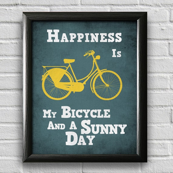 Bike Quotes: Bicycle Art Print Bike Poster Motivational By