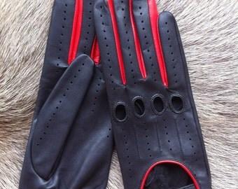 Driving Leather Gloves - Women's Lambskin Glove -Driving Glove