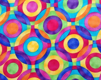 One Half Yard of Fabric Material - Concentric Circles
