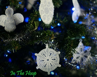 Special Buy 15 In The Hoop Freestanding Lace Christmas Ornaments for Machine Embroidery for the Crazy Low Price of 2.99.