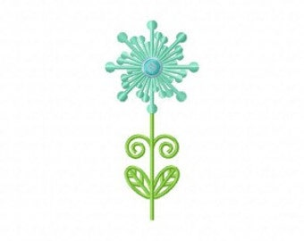 Flower Firework Machine Embroidery Design