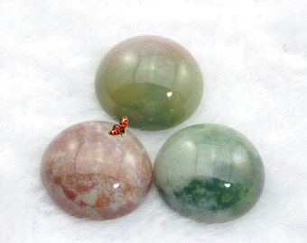 A Grade India Agate smooth coin Cabochon beads 15mm Thick:6mm,10 pcs