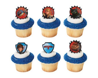 22 How To Train Your Dragon 2 Cupcake Rings Cake Decor Toppers