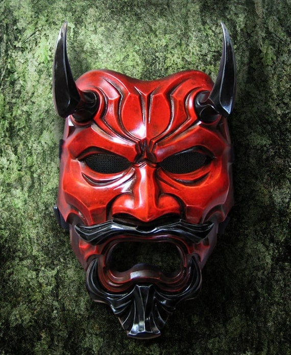 Red Oni Mask Uncle oni mask 307 red japanese noh style by thedarkmask
