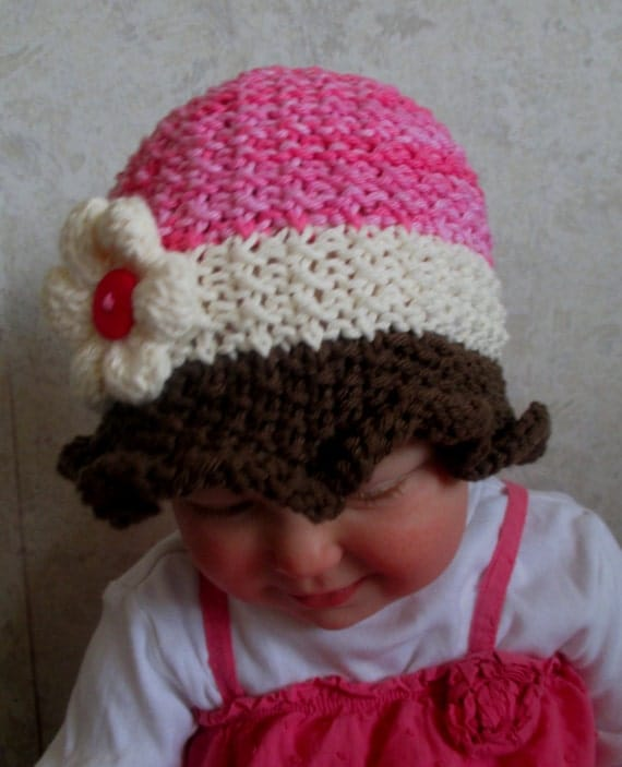 Knitting Pattern For Baby Sun Hat : Baby Sun Hat Pattern - KNITTING PATTERN pdf Baby Sun Hat - Knit baby Hat - Kn...
