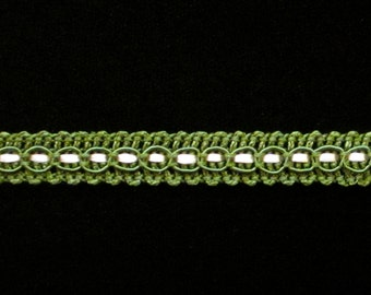 "R005 - Gimp trim ""Forest Green"" - 3/8"" (10mm)"