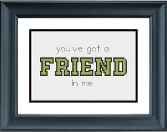 You've Got A Friend In Me - Toy Story - Disney - Pixar - PDF Cross-Stitch Pattern