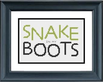 Snake In My Boots - Toy Story - Disney - Pixar - PDF Cross-Stitch Pattern