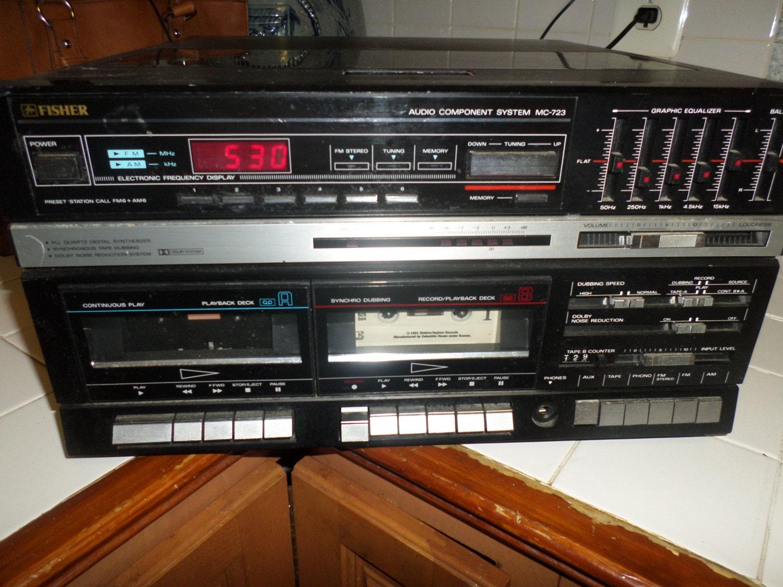 Vintage Fisher Audio Mc 723bk Stereo Cassette Deck Amp Record