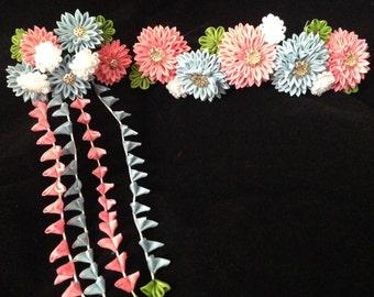 Maiko Kanzashi set Chrysanthemum bridge and falls
