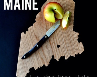 MAINE State Shaped Cutting Board