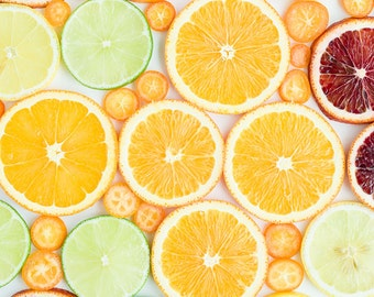 Citrus Art Print Food Photography Fruit Photography Fruit Kitchen Decor Food Art