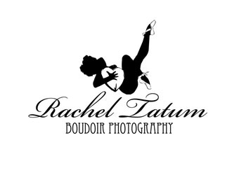 """Retiring/Clearance! Custom Premade Photography Logo and Watermark """"Boudoir1"""" - Fully Customizable Font and Color"""