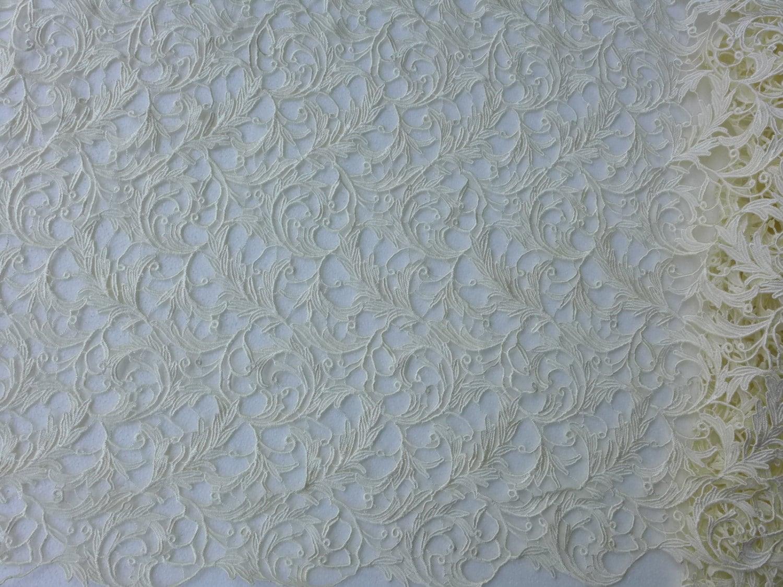 Gream dress lace fabrics 110cm wide wedding dress by for White lace fabric for wedding dresses