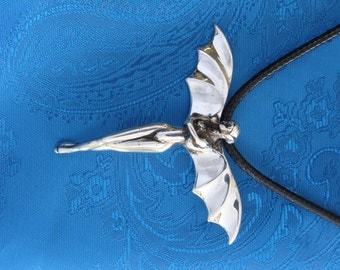 Intuition Bat Fairy in Silver
