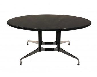 5.5' Herman Miller Black Granite Conference Table
