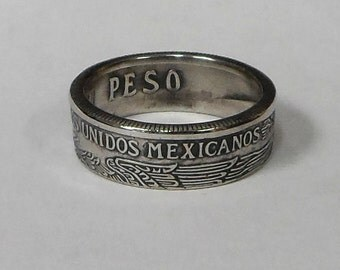 Ring hand made from Mexican Peso Coin