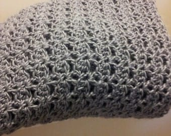 Crocheted Throw - Pure Wool
