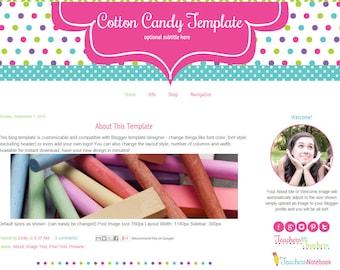 Premade Blogger Template - Teacher Blog Template - Craft Blog Template - Cotton Candy