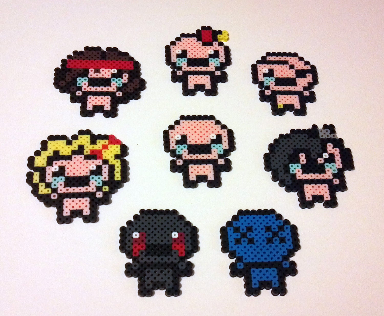 The binding of isaac rebirth inspired set of 8 by thelastsumerian
